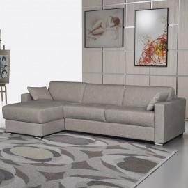 Canapé d'angle convertible tissu Carmela