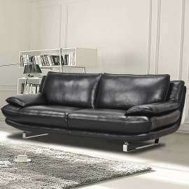 Canapé 3 places cuir noir Dallas