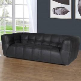Canapé 3 places tissu noir Grant