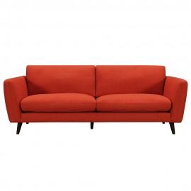 Canapé 3 places tissu rouge Kenton