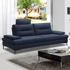 Canapé 3 places tissu bleu Spalding