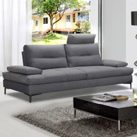 Canapé 3 places tissu gris Spalding