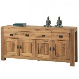 Buffet 4 portes 4 tiroirs chêne huilé Lodge