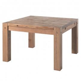Table carrée de séjour chêne huilé Lodge