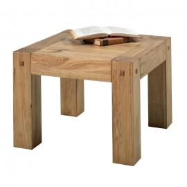 Table de salon carrée chêne huilé Lodge