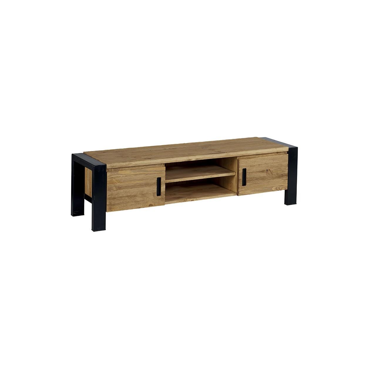 Meuble En Pin Ciré meuble tv 150cm pin brossé lugano