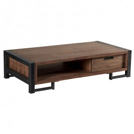 Table basse 2 tiroirs teck naturel Wales