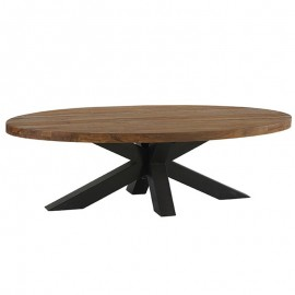 Table basse ovale teck massif BAILEY