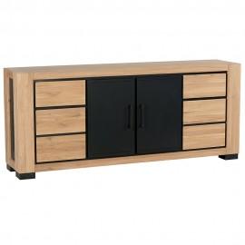 Buffet 4 portes 2 tiroirs chêne huilé CLEVELAND