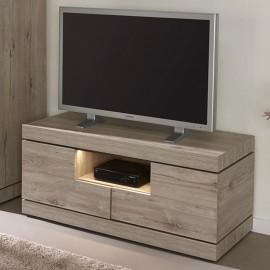 Meuble TV 125cm en mélaminé gris ETNA