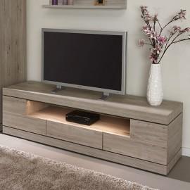 Meuble TV 180cm en mélaminé gris ETNA