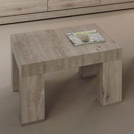 Table basse carrée en mélaminé gris ETNA
