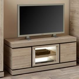 Meuble TV 135cm en mélaminé gris BELLUNO