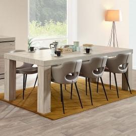 Table loft avec allonge en mélaminé gris BELLUNO