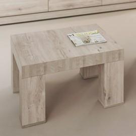 Table basse carrée en mélaminé gris BELLUNO