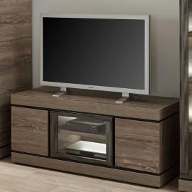 Meuble TV 135cm en mélaminé brun BELLUNO