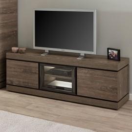 Meuble TV 180cm en mélaminé brun BELLUNO