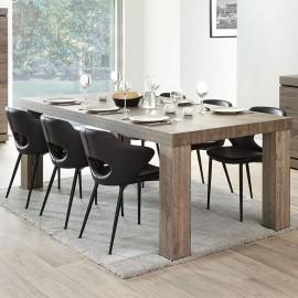 Table de séjour rectangulaire en mélaminé brun BELLUNO