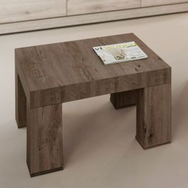 Table basse carrée en mélaminé brun BELLUNO