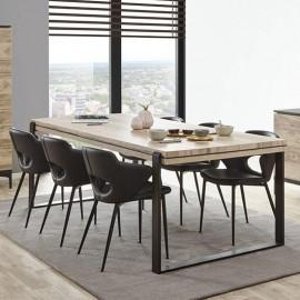Table loft avec allonge en mélaminé FENIKS