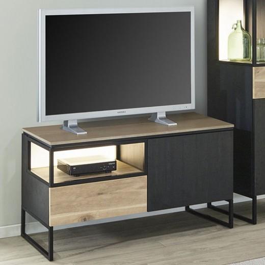 Meuble TV 120cm en mélaminé Portofino
