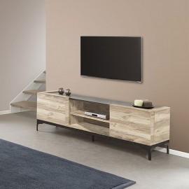 Meuble TV 170cm en mélaminé chêne GROSSO