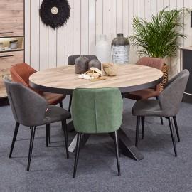 Table ronde en mélaminé naturel PERUGIA