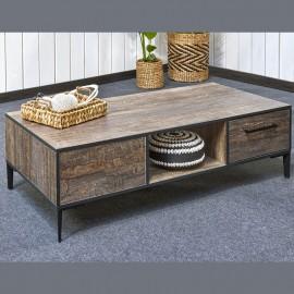 Table de salon XL en mélaminé fonçé PERUGIA