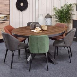 Table ronde en mélaminé fonçé PERUGIA