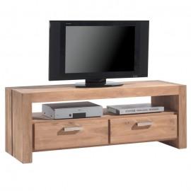 Meuble TV 150cm 2 tiroirs Bornéo en teck