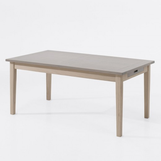 Table rectangulaire extensible finition naturelle Péronne