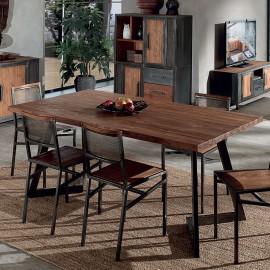 Table rectangle atelier Talmo en teck