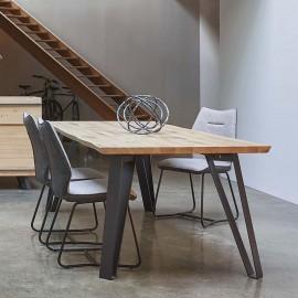 Table rectangle 4 pieds Fusion chêne massif