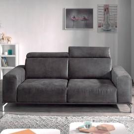 Canapé 3 places Utaka tissu vintage gris