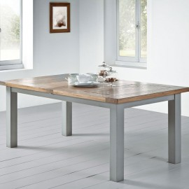 Table rectangle romance teinte tilleul
